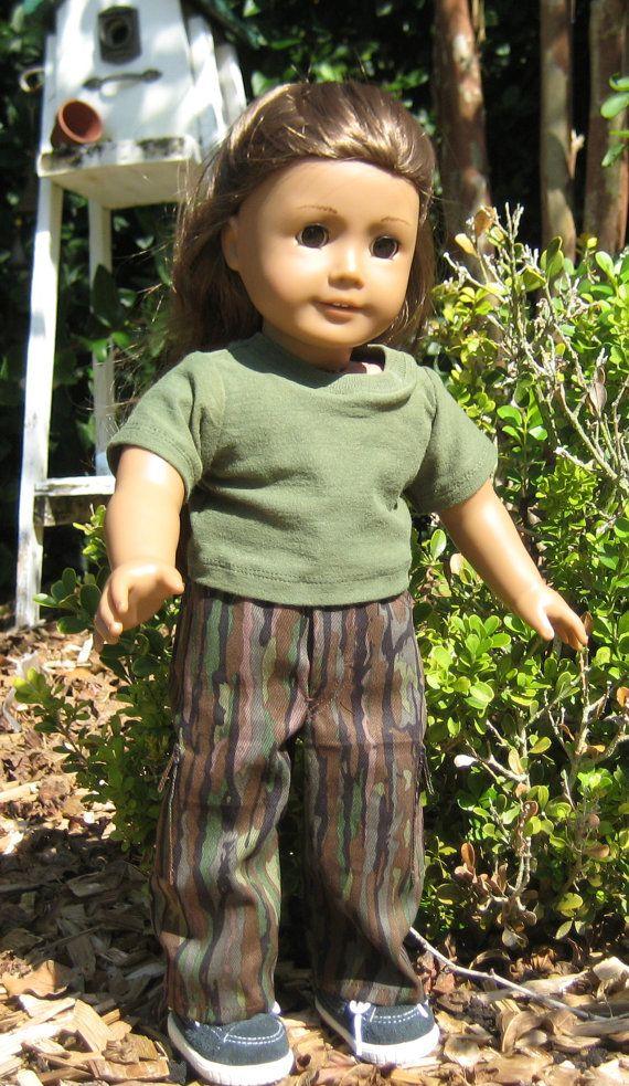 18 Inch Doll Clothes American Girl or Boy by RoseMariesBoutique, $12.00 #boydollsincamo