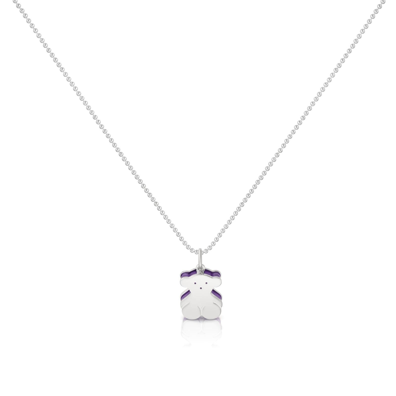 TOUS Silver Sweet Dolls Necklace with small motif