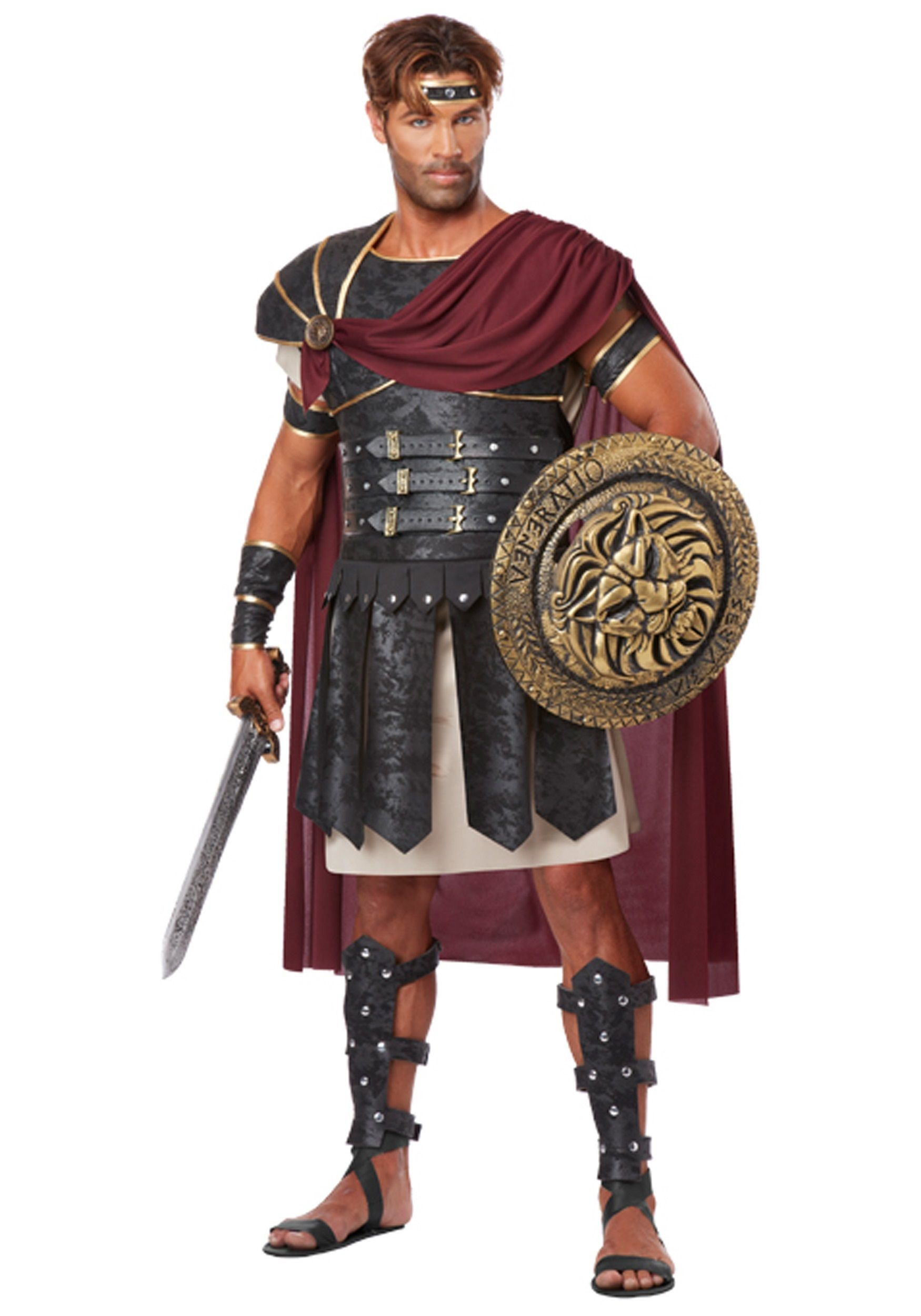 Roman Warrior /& Empress Adult Couple Costume Halloween Dress California Costumes