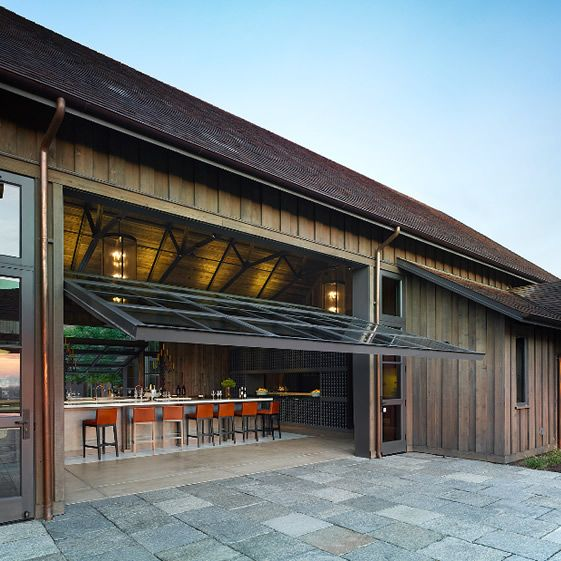 Ram 39 s gate winery california we heart architecture for Architectural garage doors