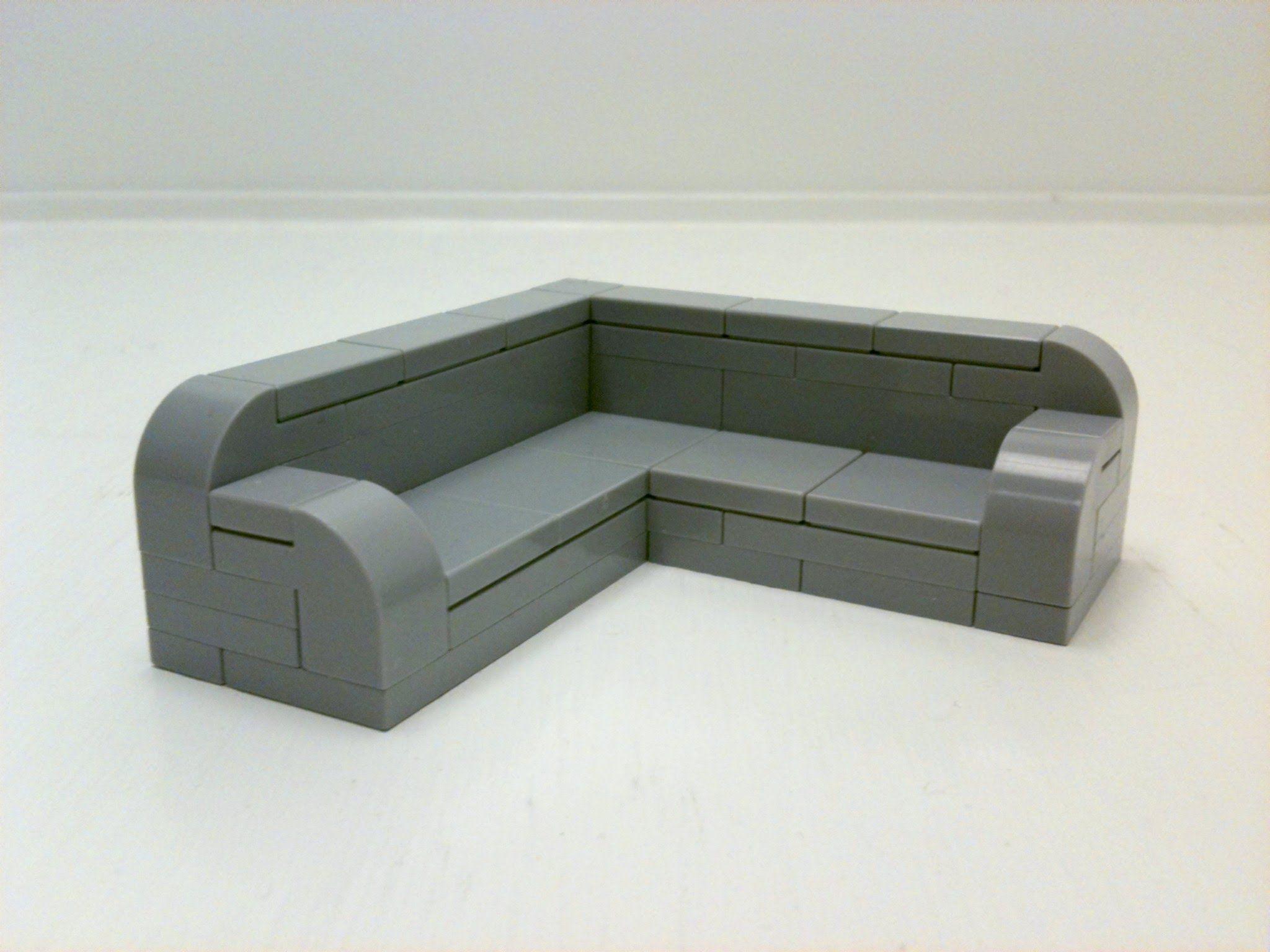 Tutorial Sectional Sofa Cc Lego Furniture Lego Storage Lego Room