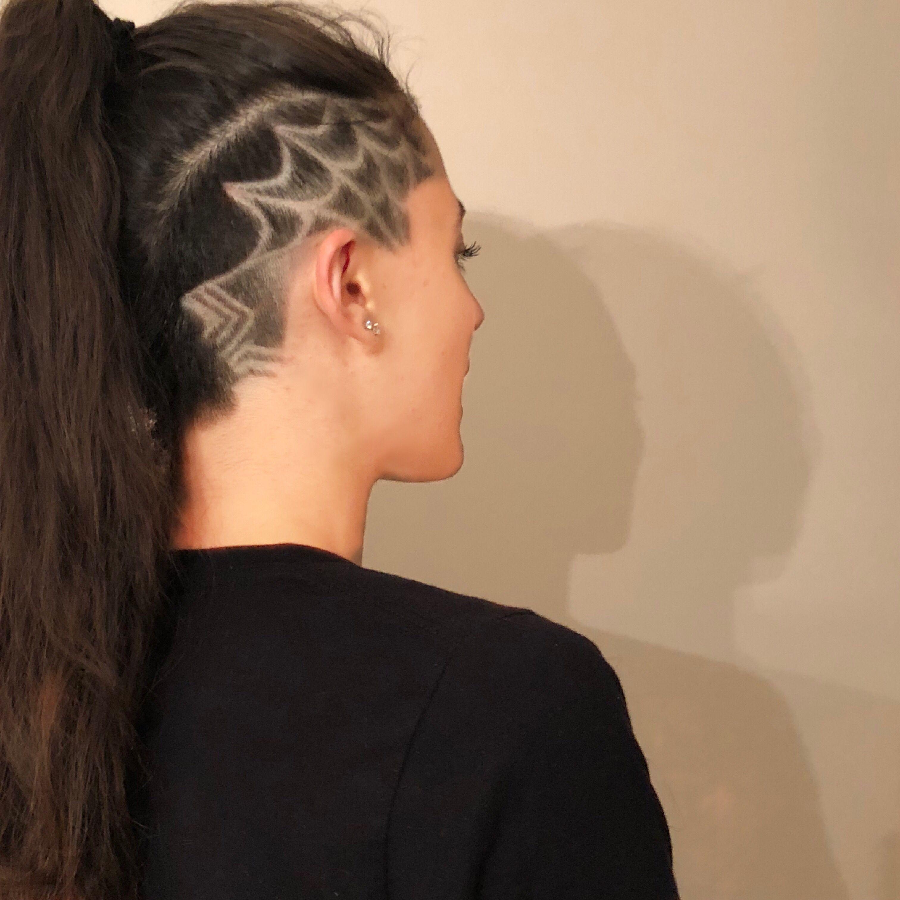 Spider Web Shaved Hair Designs Anna Hair Hair Styles