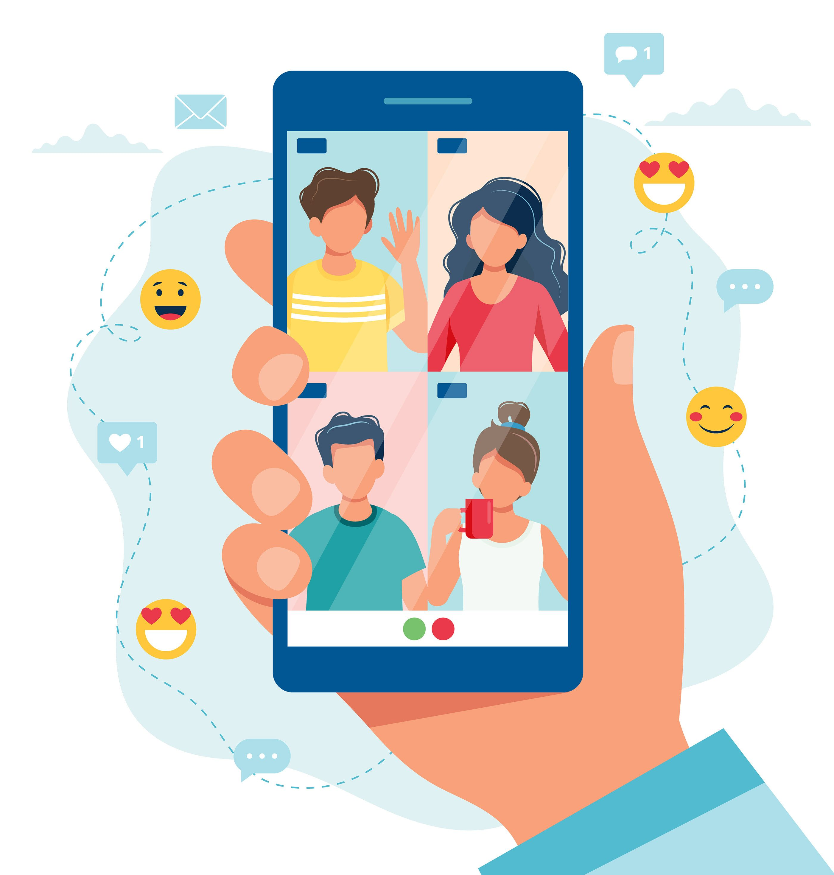Group call with friends on Behance in 2020 Friends gif