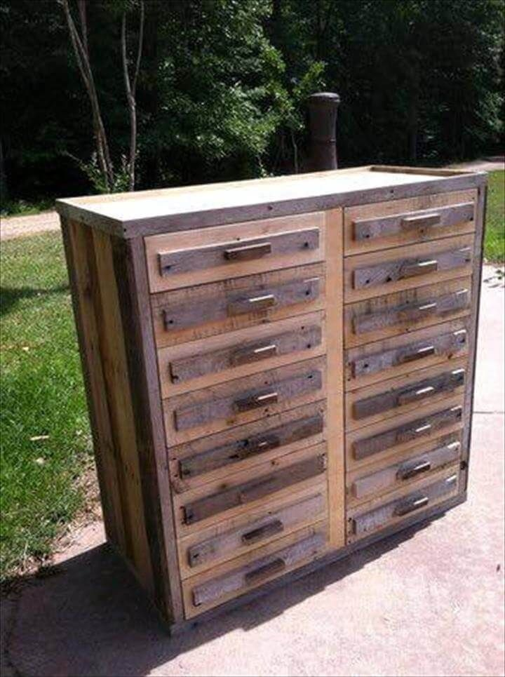 Diy pallet wood chest of drawers wood pallets pallet