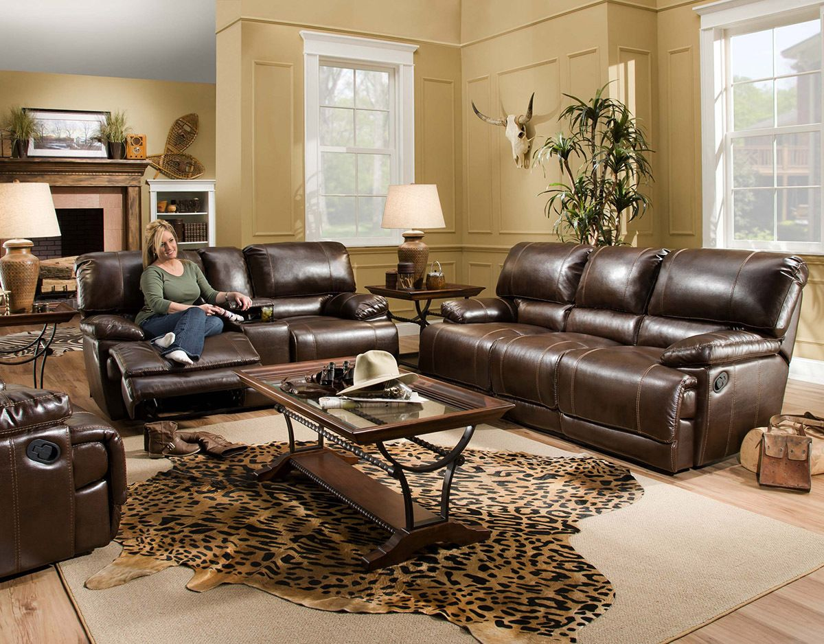 Red River Reclining Sofa And Console Love Seat Quality Bonded Leather By Corinthian 1499 00 Sofa L86 D40 H Brown Living Room Decor Reclining Sofa Furniture