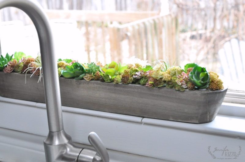 Wooden Window Sill Planter