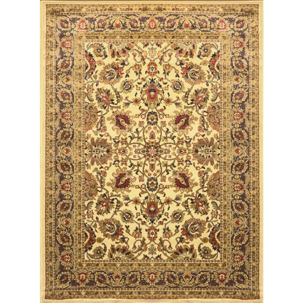 Home Dynamix Royalty Ivory 3 Ft X 3 Ft Round Indoor Area Rug 3r