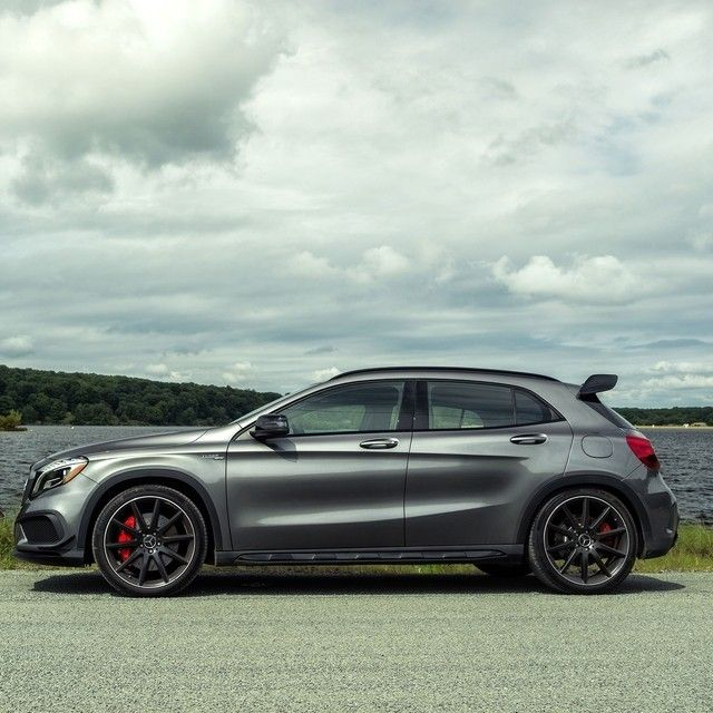 The Gla45 Amg Is Flexing Its Imposing Muscles By The Lake