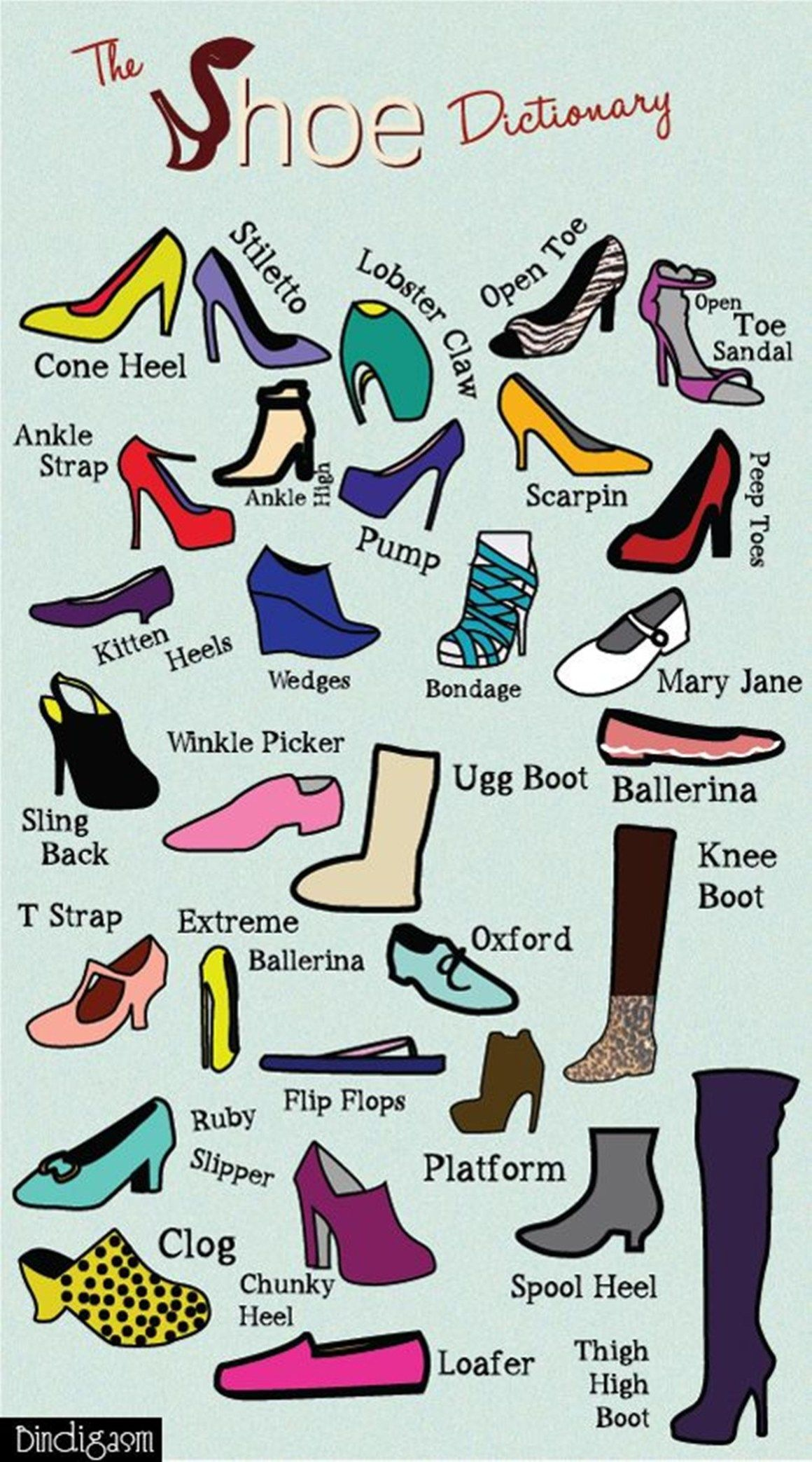 Vocabulary Different Types Of Shoes Esl Buzz