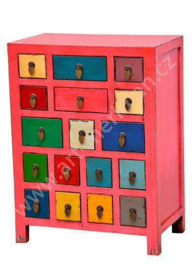 Růžová komoda, barevné šuplíky KO-MO-DY Pinterest Kos - logiciel plan de maison