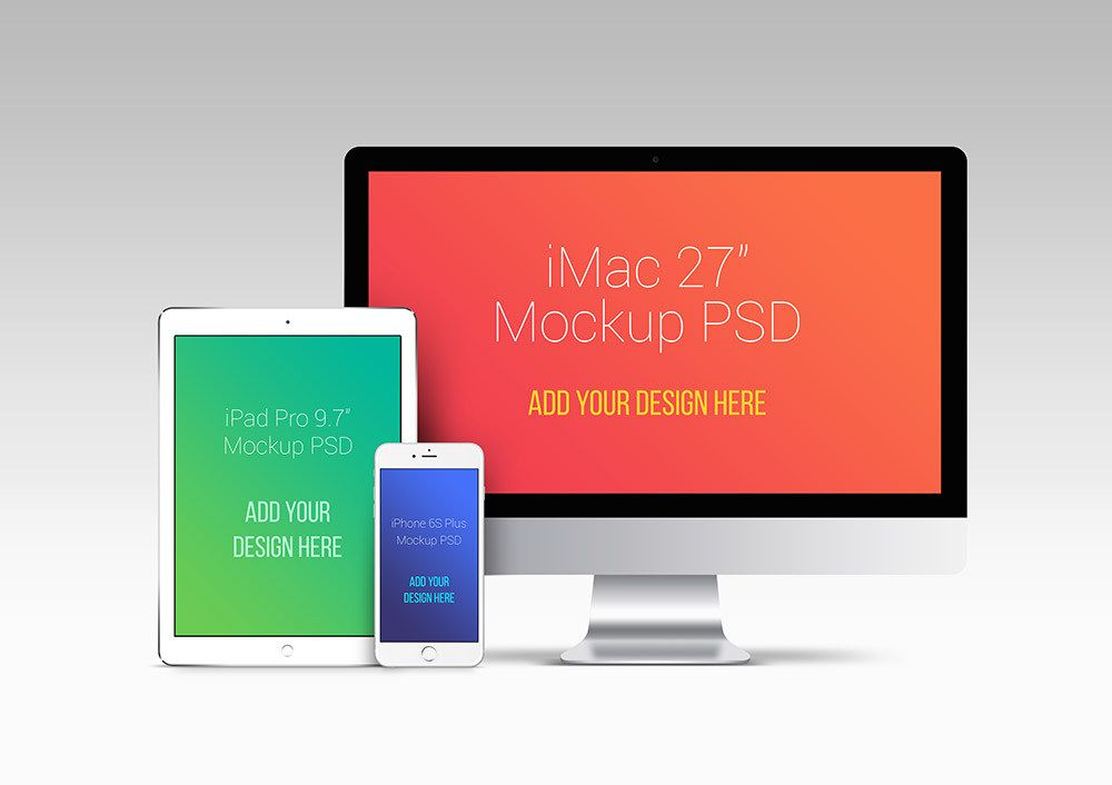 Apple Devices Psd Mockup Templates Design Resources Pinterest