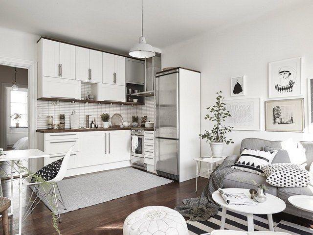 Photo of Wohnküche im skandinavischen Stil – eine frische ungewöhnliche Trendentscheidung