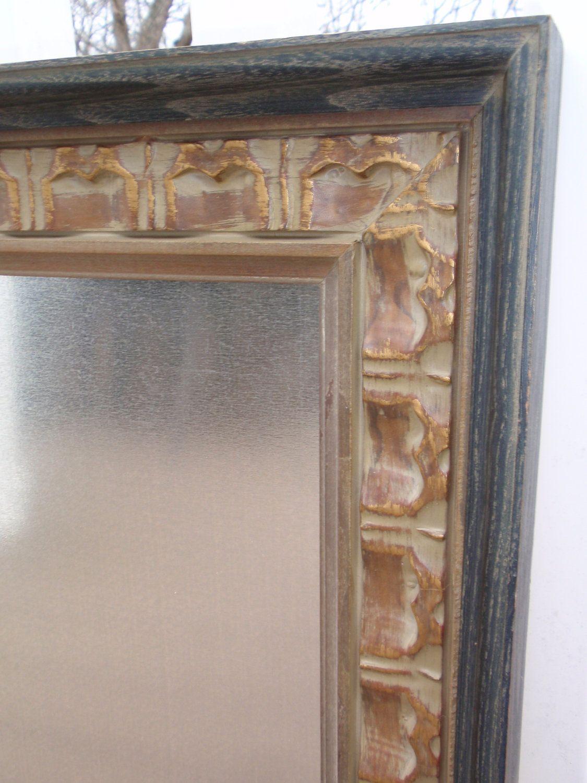 Ornate Framed Magnetic Magnet Bulletin Board in Brushed Silver, Gold & Black Distressed Weathered Frame with Seven Jewel Magnets. $47.00, via Etsy.