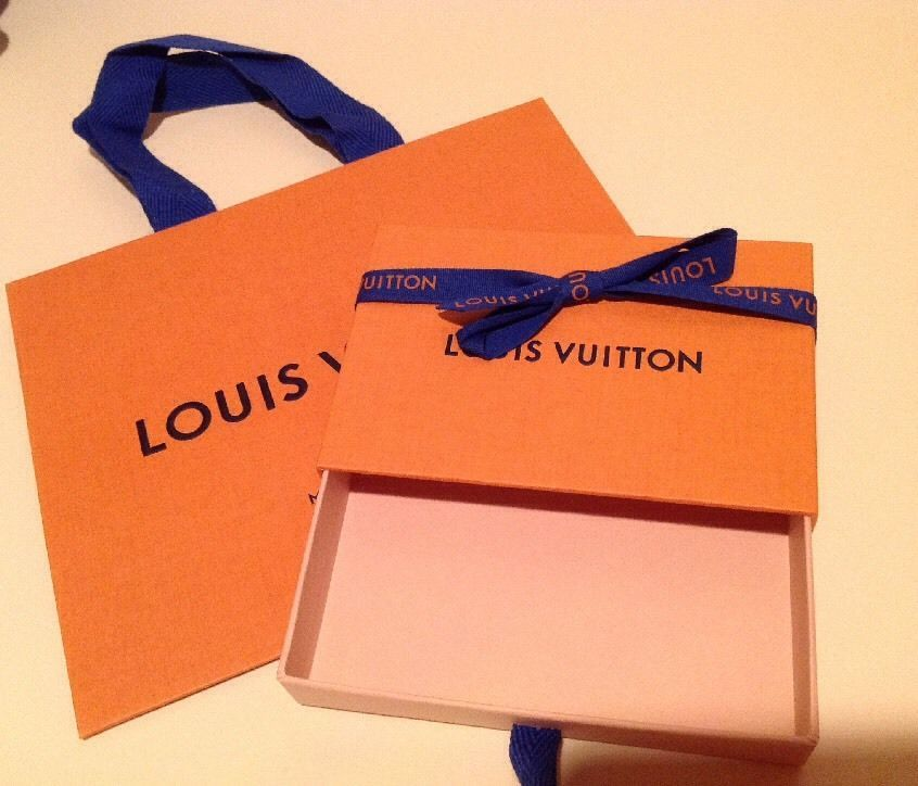446e52996180 Authentic Louis Vuitton Orange Shopping Bag 8.5 x7x4.5   Small Box  3.5x5.5x1 NEW