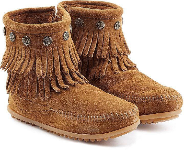 Minnetonka Concho Suede Fringe Boots tbZum2o