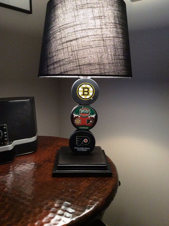 Bruins Flyers Winter Classic Hockey Puck Lamps On Etsy