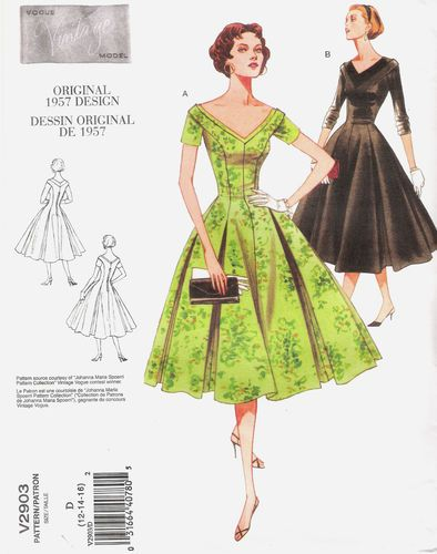VINTAGE VOGUE SEWING PATTERN - 50s SWING DRESS ROCKABILLY ROCK\'N ...