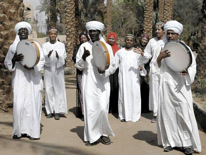Nubi men and women of Egypt