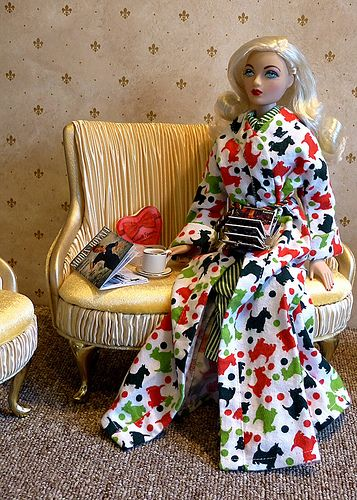 AD Gene Marshall ~ Sandra Stillwell Presents fashions from 'Every Day's a Holiday' convention in Kansas City ~ 'Waiting for Santa,'  Image and styling by Izzy ~ The Studio Commissary