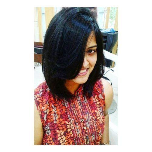Tamil Medium Hairstyle With Fringe Medium Hair Styles Hair Styles Fringe Hairstyles