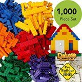 ToysOpoly 1000 Pieces Building Bricks - Compatible with Classic Legos, Mini Mega Bloks, Kinex Sets, Creative Duplo, Tyco, KRE-O + Free Removal Tool