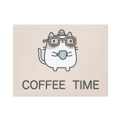 Coffee time canvas print funny coffee quote quotes