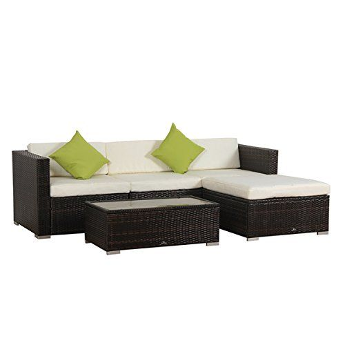 Broyerk 5piece Rattan Outdoor Patio Furniture Set Read More Reviews Of The Product By Visiting The Sectional Patio Furniture Patio Furniture Sets