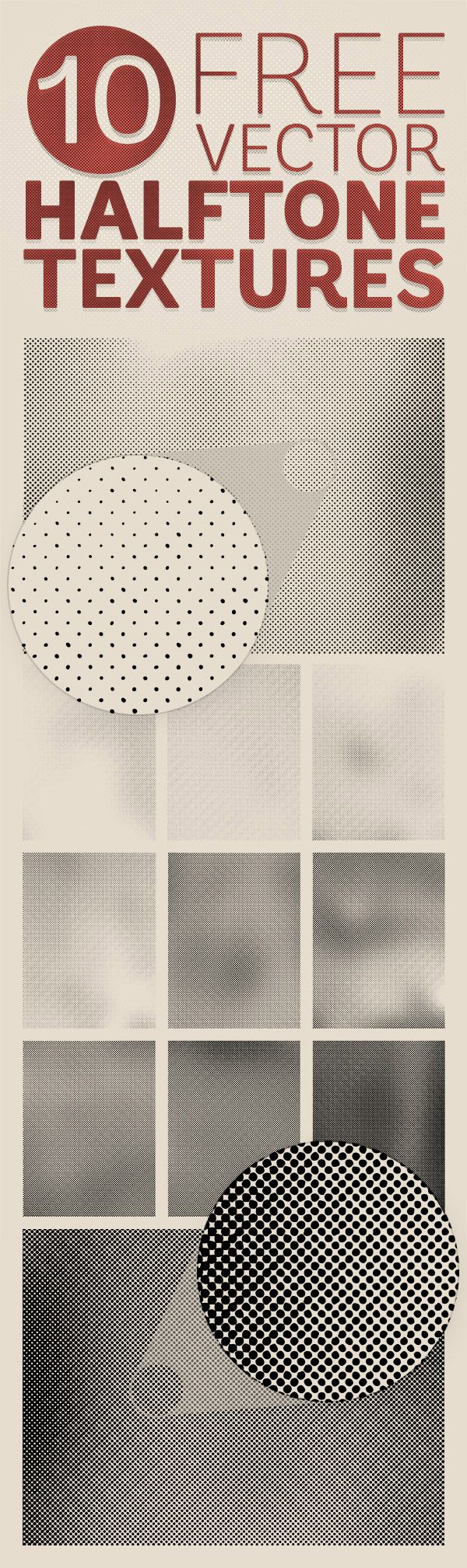 Free Vector Halftone Textures