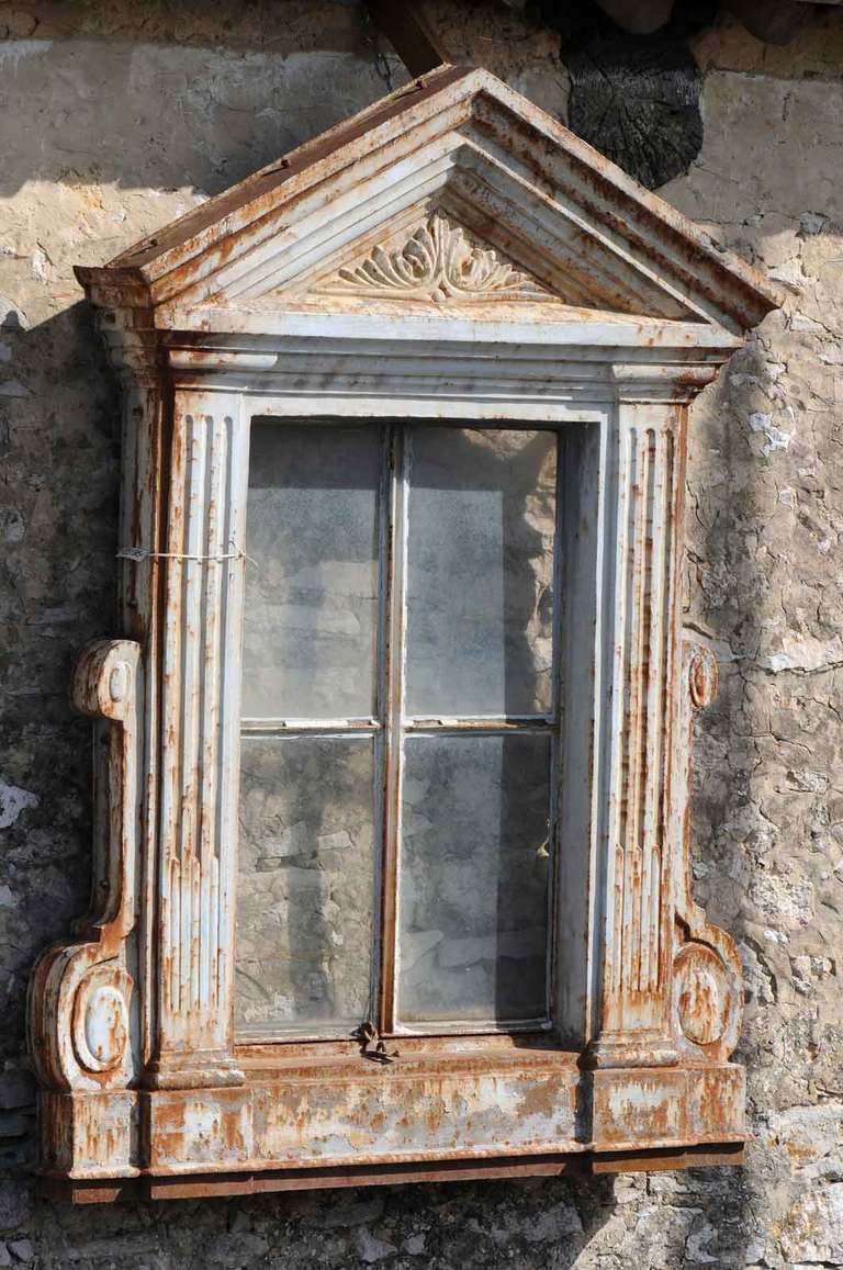 1stdibs French Directoire Style Cast Iron Window Frame 19th Century