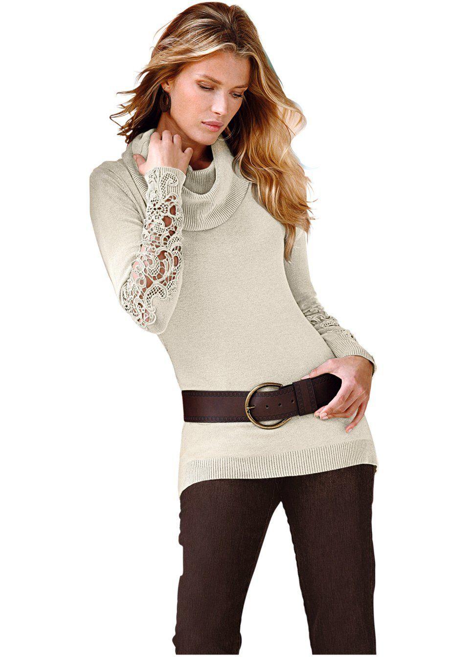 Sweter Z Szydelkowa Koronka Fashion