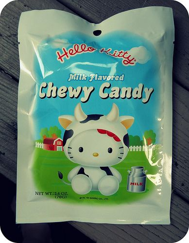 Hello Kitty Milk Flavored Chewy Candy (Front) by Moon Memento ☆ ムーン メメント, via Flickr