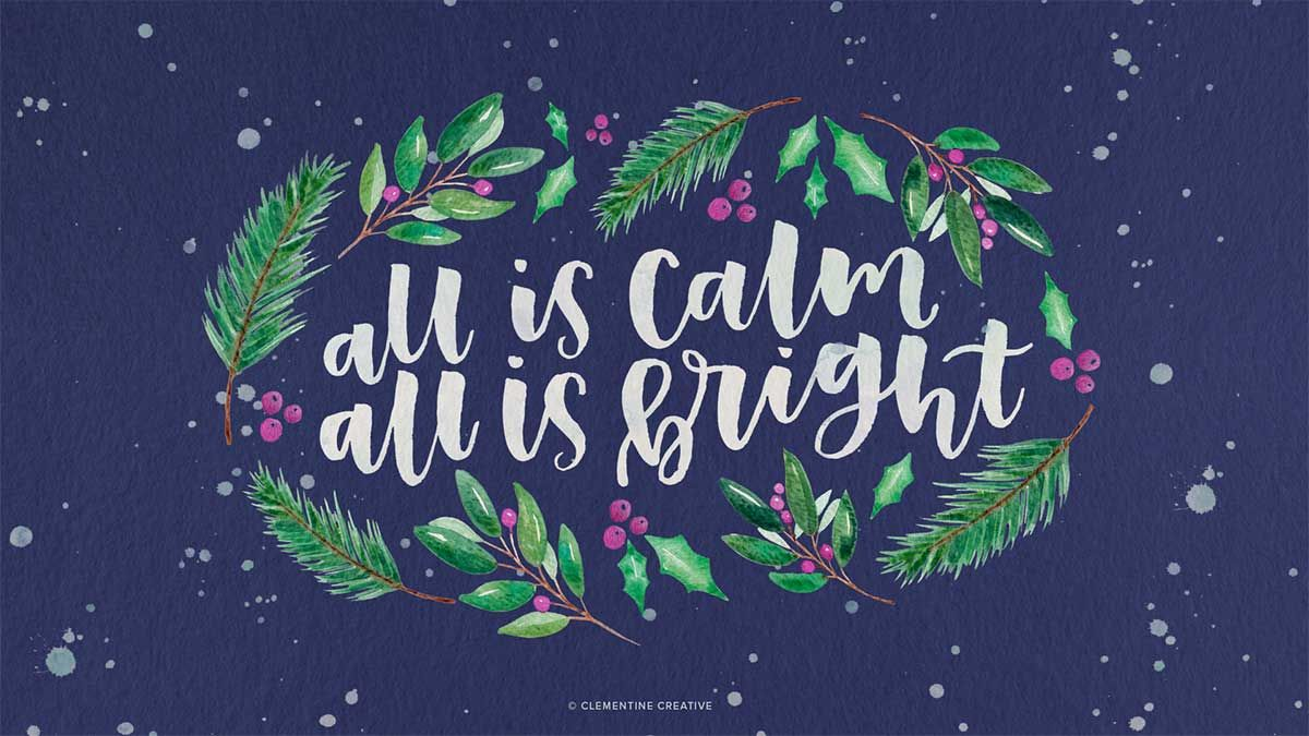 Free Cute Modern Christmas Wallpapers For Your Desktop And Phone Clementine Creative Christmas Wallpaper Modern Christmas Wallpaper