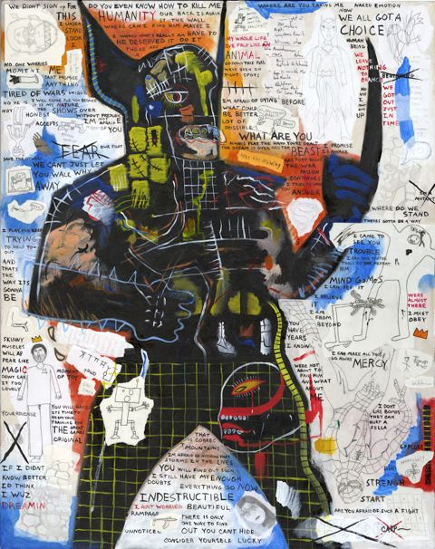 Basquiat is my favorite artist EVER!!! There has never been anyone like him before.