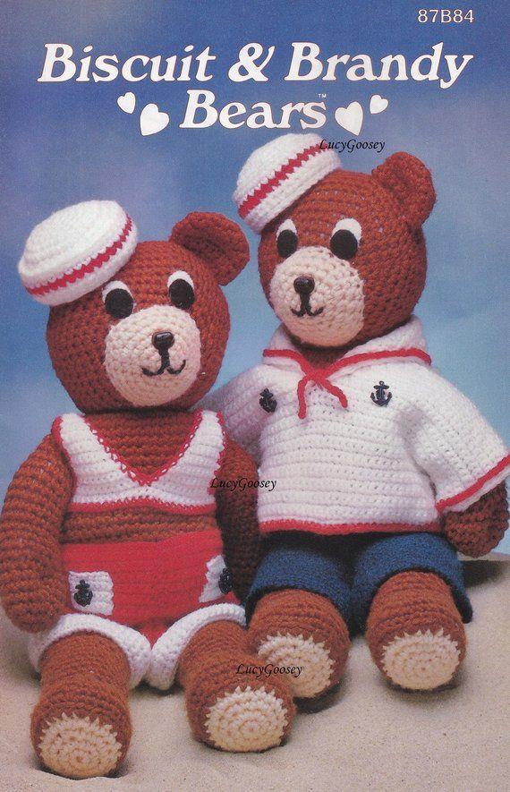 Biscuit Brandy Bears Annies Attic Crochet Pattern Booklet 87b84