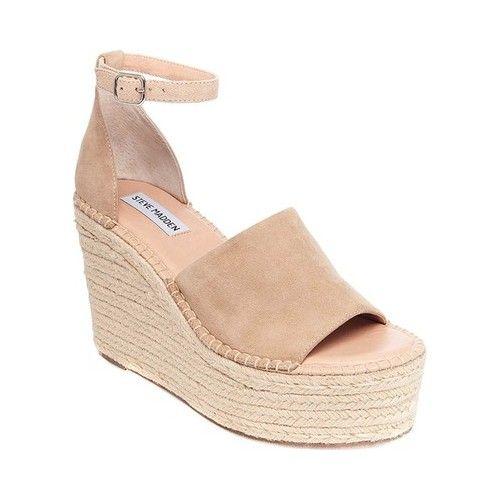 57da037f186 Women's Steve Madden Sway Wedge Sandal - Sand Suede Sandals ...