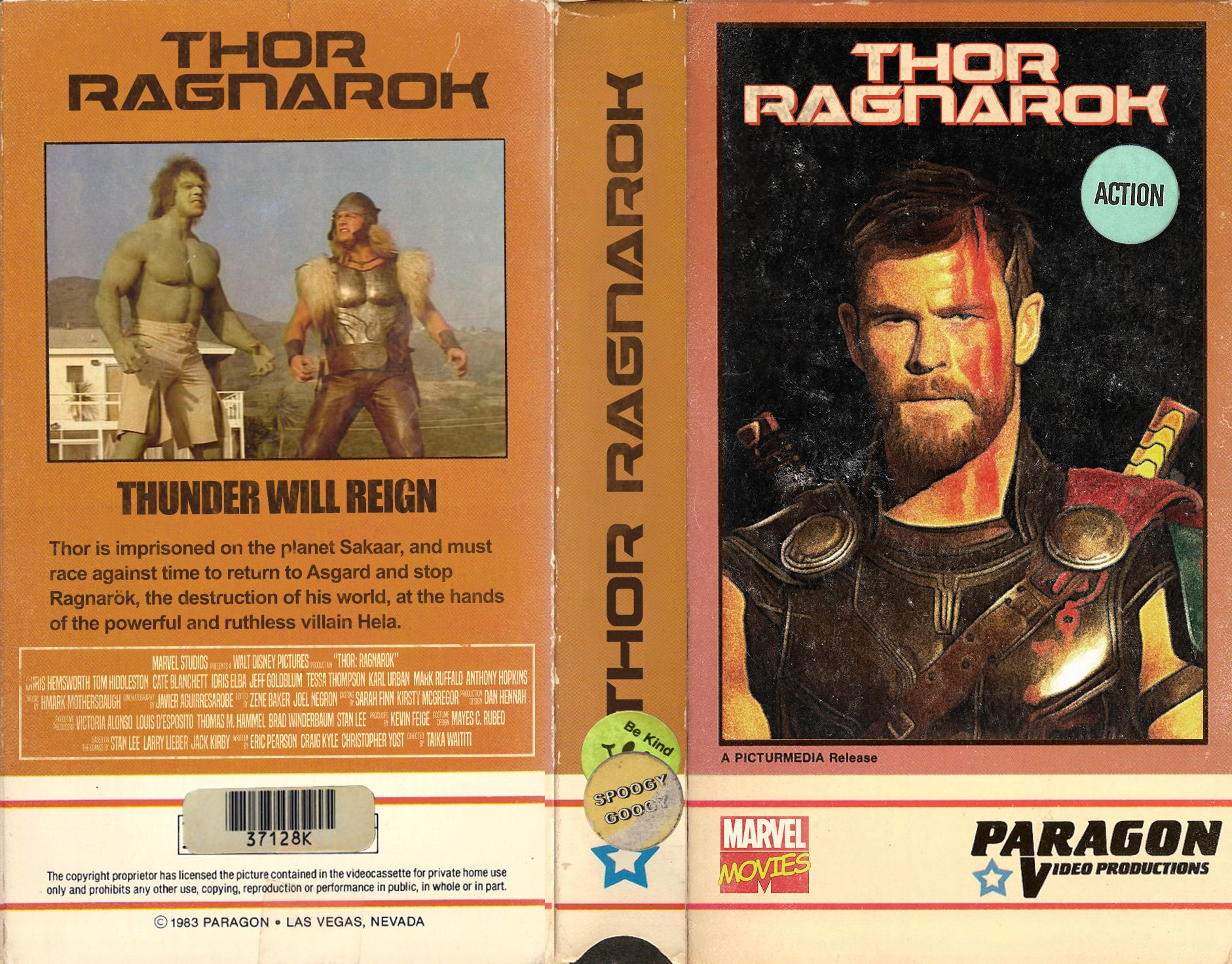 Thor Ragnarak Vhs Cover Art Thor Funny Images Book Cover