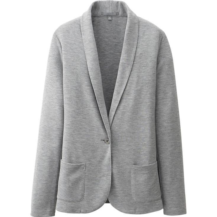 Part sweatshirt, part cardigan, part structured blazer. Mmm ...