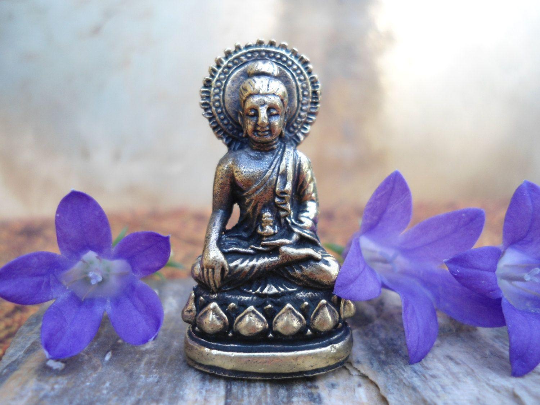 buddhist statue tiny brass buddha statue meditation altar travel  - buddhist statue tiny brass buddha statue meditation altar travel altarportable altar pocket altar brass deity