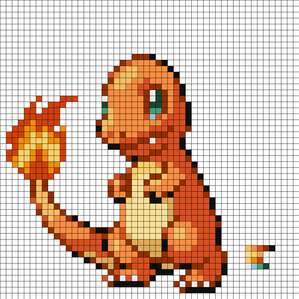 Pixel Art Templates Hard Pokemon Galleryhipcom The