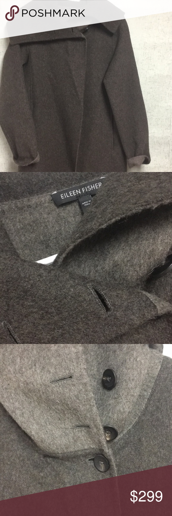 Eileen Fisher Xs High Double Face Coat Baby Alpaca Alpaca Wool Blend 17 Inches Underarm To Underarm And 35 In Le Eileen Fisher Jacket Eileen Fisher Baby Alpaca [ 1740 x 580 Pixel ]
