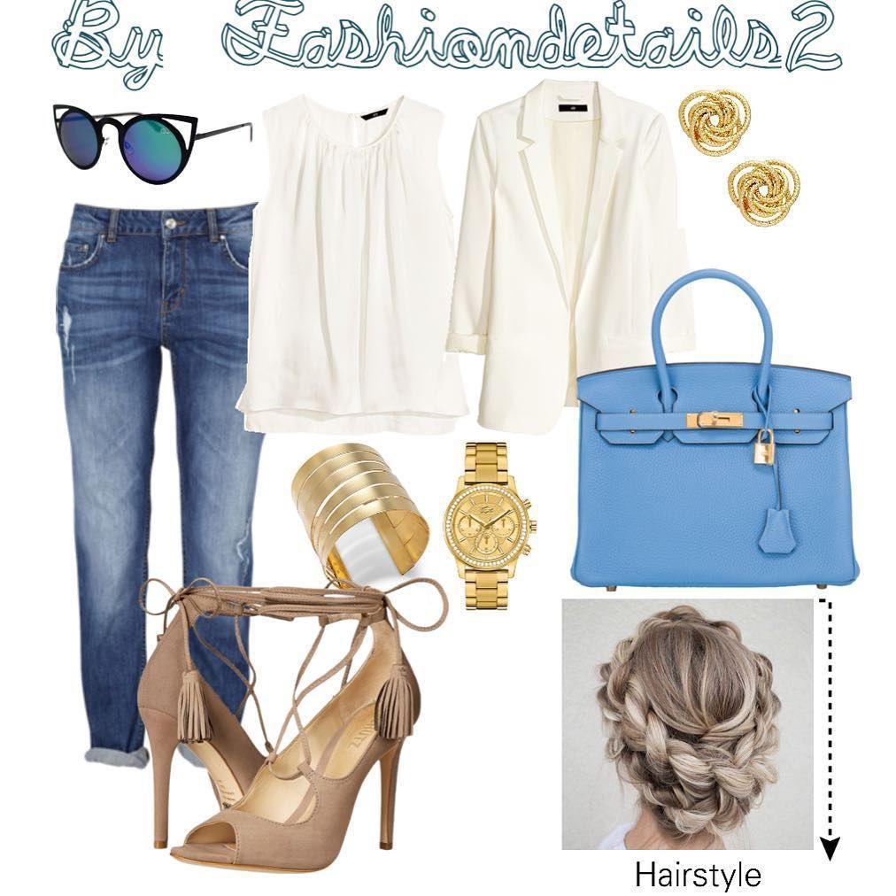 "Fashion Tips By Engely Lopez en Instagram: ""Jeans✌️ Inspiraciòn de outfit y peinado #fashiondetails2 Shoes: Schutz Blazer: H&M Pulsa: Thalia S."""