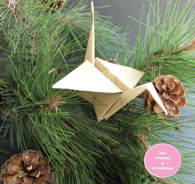 Decorar Arbol Navidad En Papel.Grullas De Origami Decorar Arbol De Navidad Manualidades