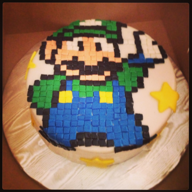 Luigi pixel cake cakes pinterest luigi and cake
