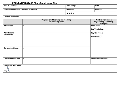 Free Lesson Plan Template Lesson Plan Template Pinterest