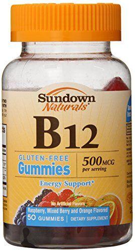 Sundown Naturalsvitamin B 12 500 Mcg 50 Gummies Pack Of 3 Gummies Vitamins Natural Vitamins