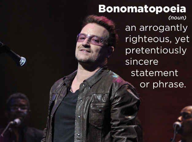 Bono:   Urban dictionary, Celebrities, Slogan tshirt