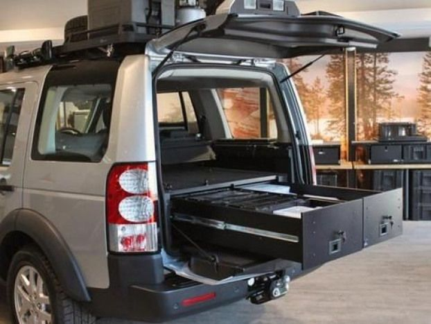 Land Rover Discovery 3 4 Lr3 Lr4 Drawer Kit By Front Runner Landroverdefender Land Rover Defender Land Rover Discovery Land Rover Camping Rover Discovery