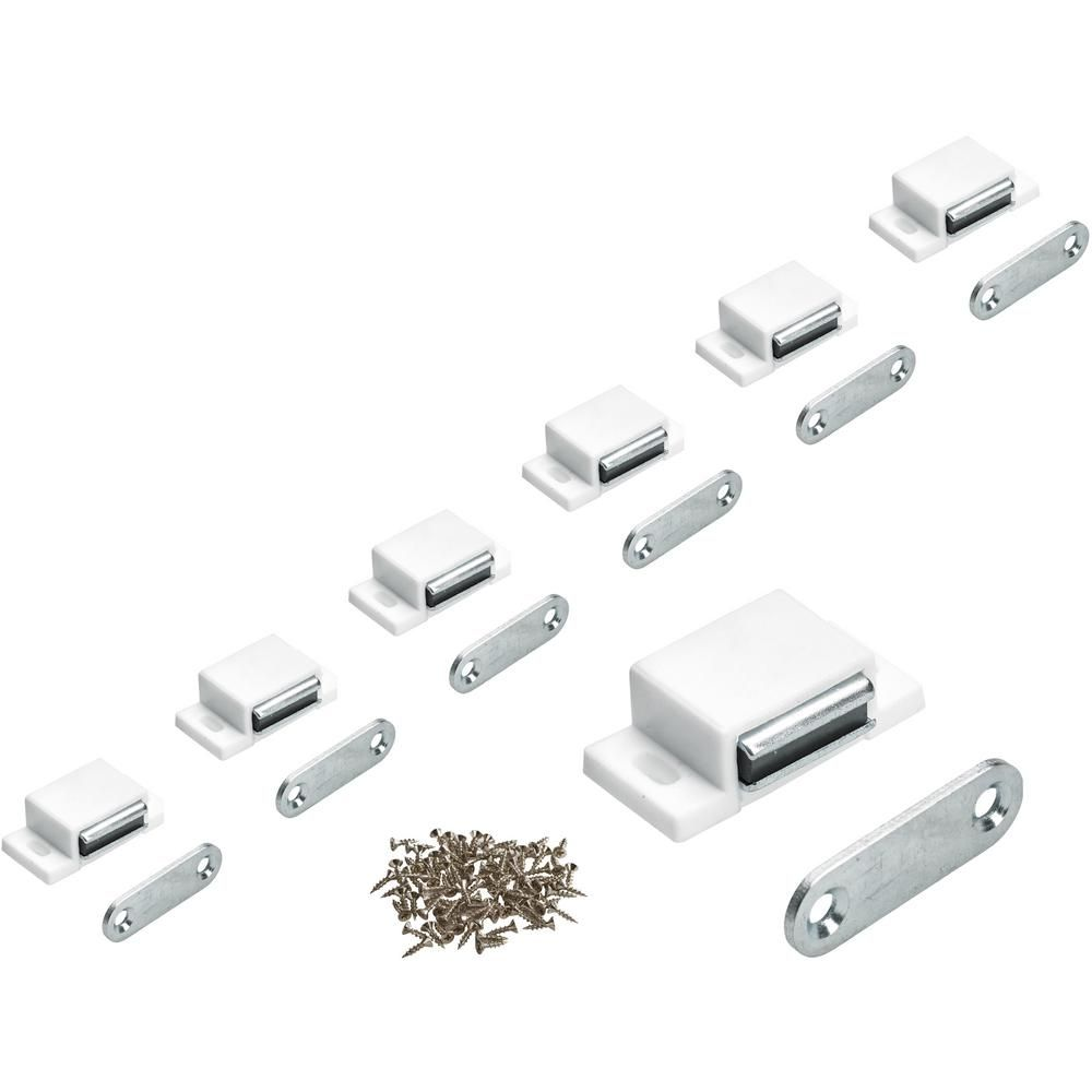 Everbilt 11 Lbs Magnetic Door Catch With Counter Plate White 25