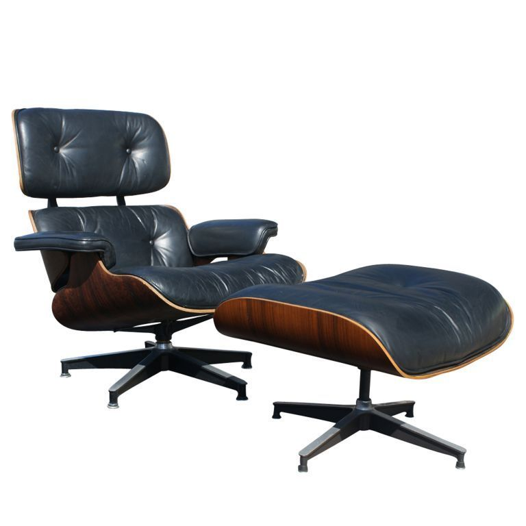 Rare Early Eames For Herman Miller Lounge Chair And Ottoman Eames Lounge Chair Charles Eames Lounge Chair Eames Lounge
