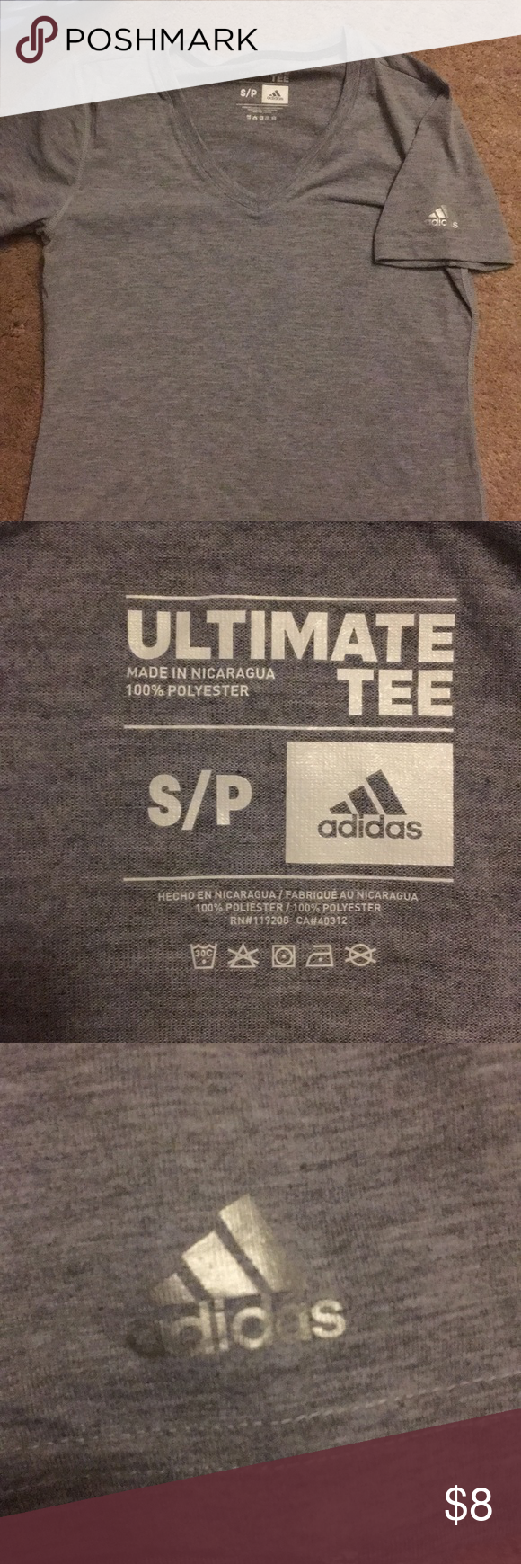 Womens Adidas Tee New Without Tags Never Worn Or Washed